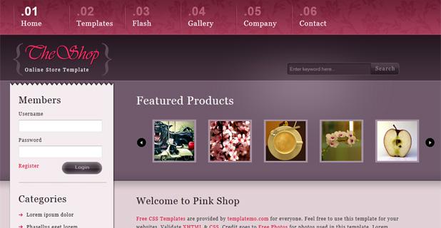 Pink Shop Template