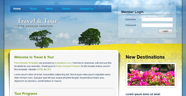 Travel Tour Template