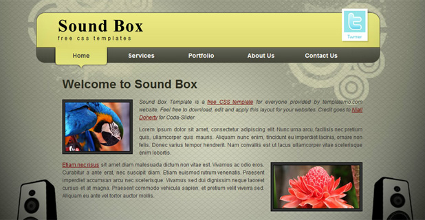 Sound box Template