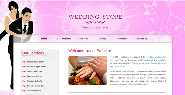 Wedding store Template